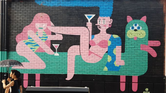 Painting on the wall in itaewon seoul