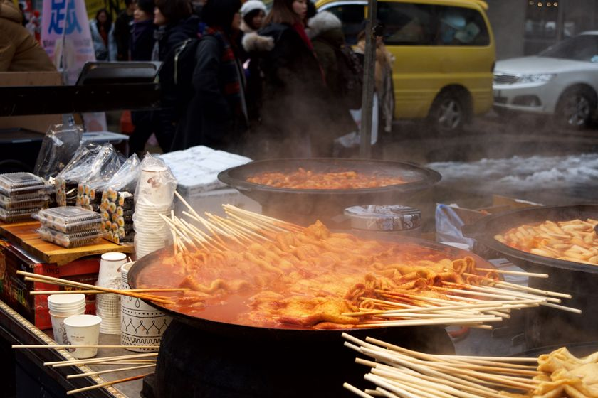 Odeng ia popular street food being sold