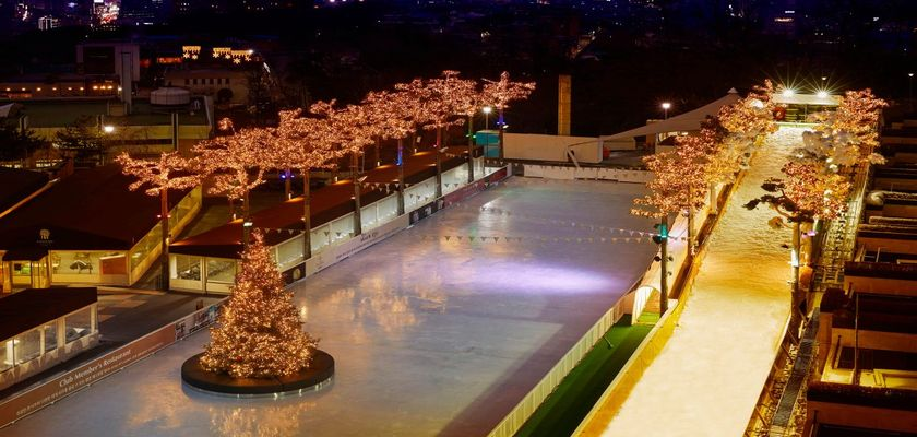 BANYANTREE hotel ice rink which is in seoul Korea