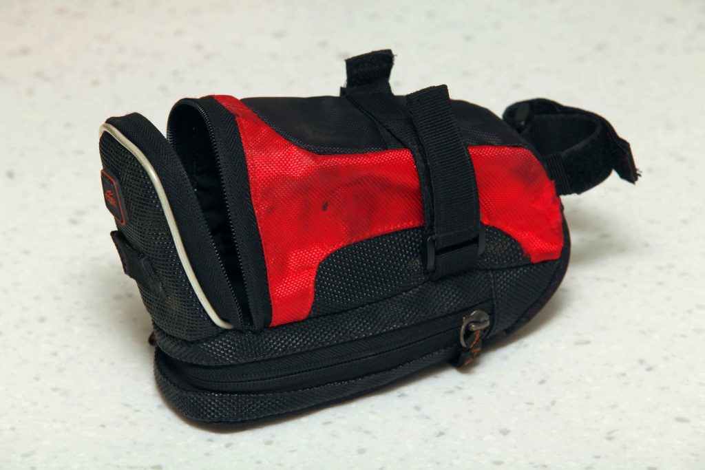 A picture of a saddle pack (bag).