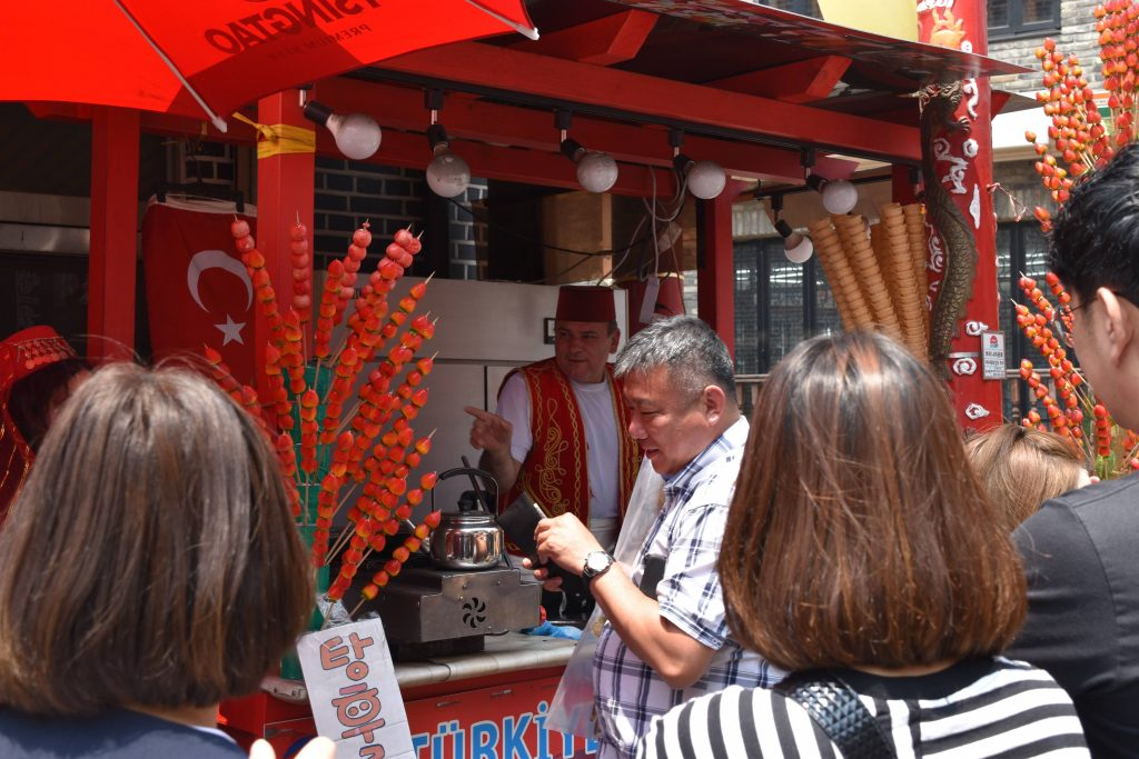 A turkish ice cream store in incheon chinatown