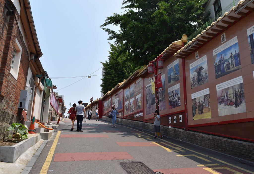 A photo of Samgukji mural street in Incheon Chinatown