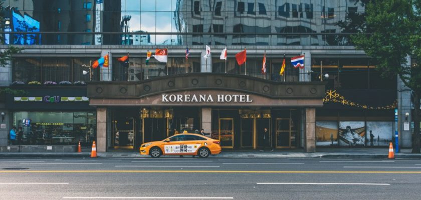 The Koreana Hotel rests near Gyeongbokgung Palace (경복궁) in Seoul.