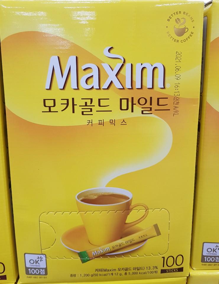Maxim mocha gold Korean instant coffee