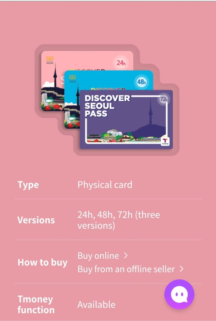 Discover Seoul pass with information on the versions you can buy, how to buy and if T-money works