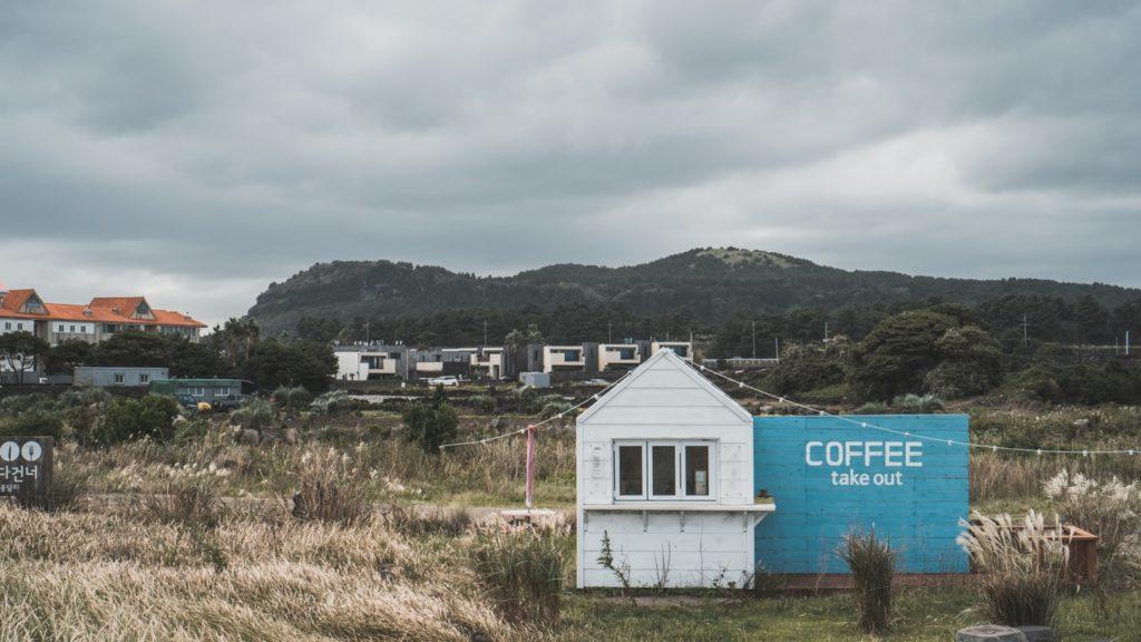 A Korean coffee shop on Jeju island