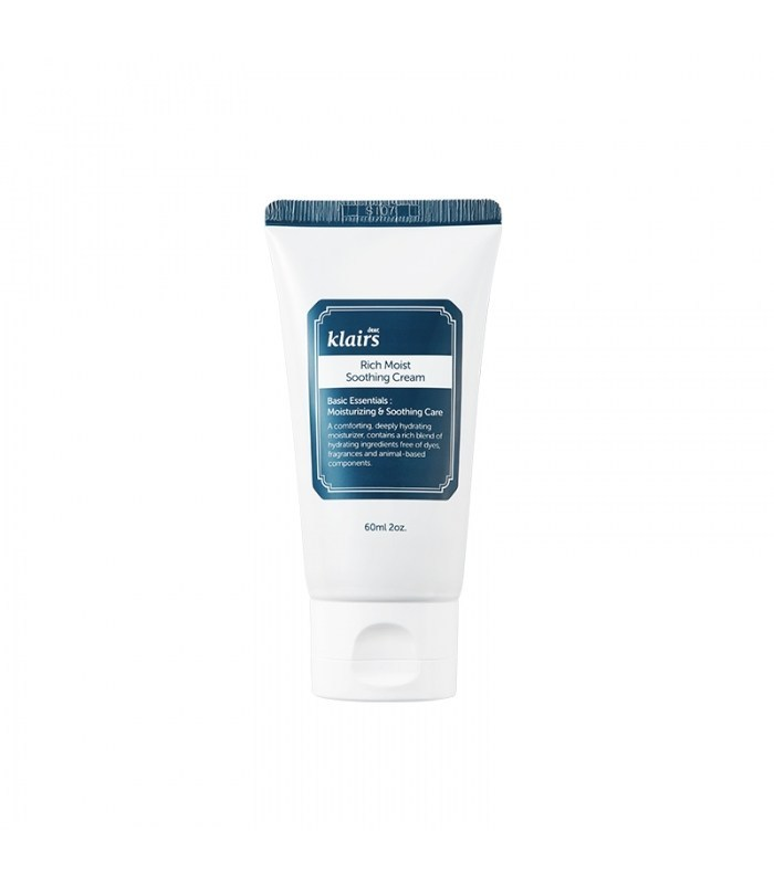 A photo of the bottle Klaris Rich Moist Smoothing cream which is a Korean moisturizer for dry skin