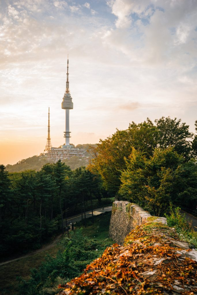 A Photo of Namsan tower.