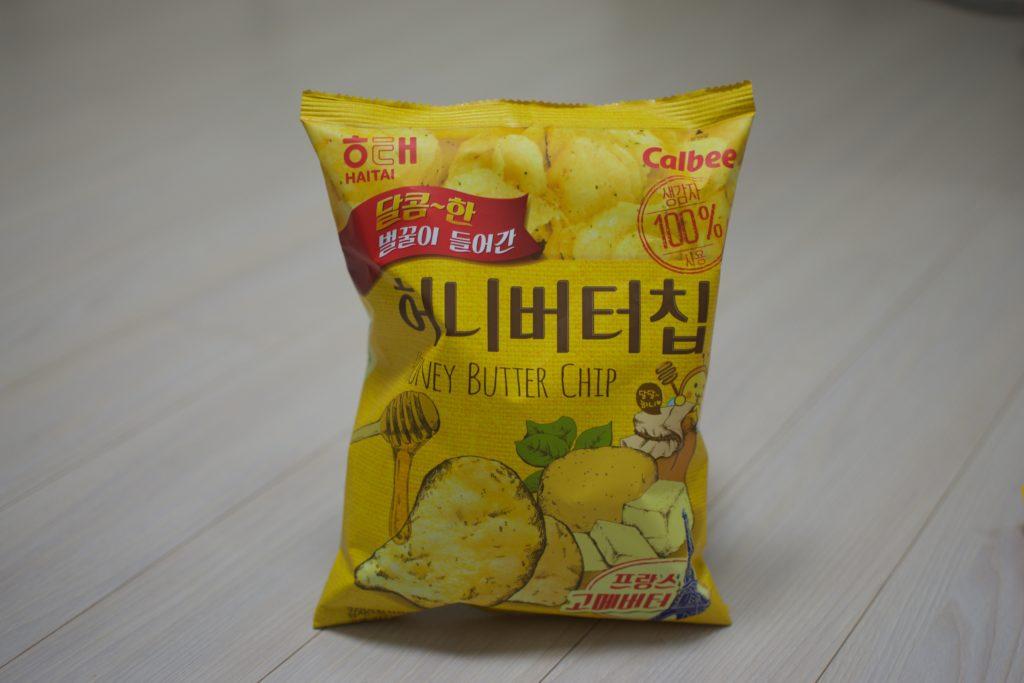 A photo of Korean honey butter chips