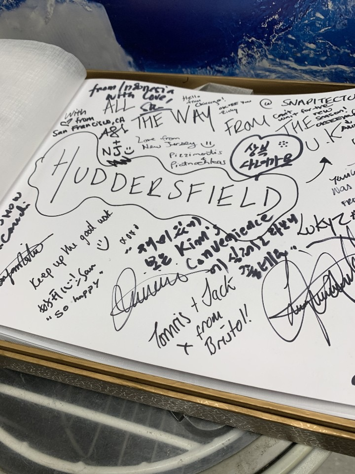 Kims Convenience Store guest book