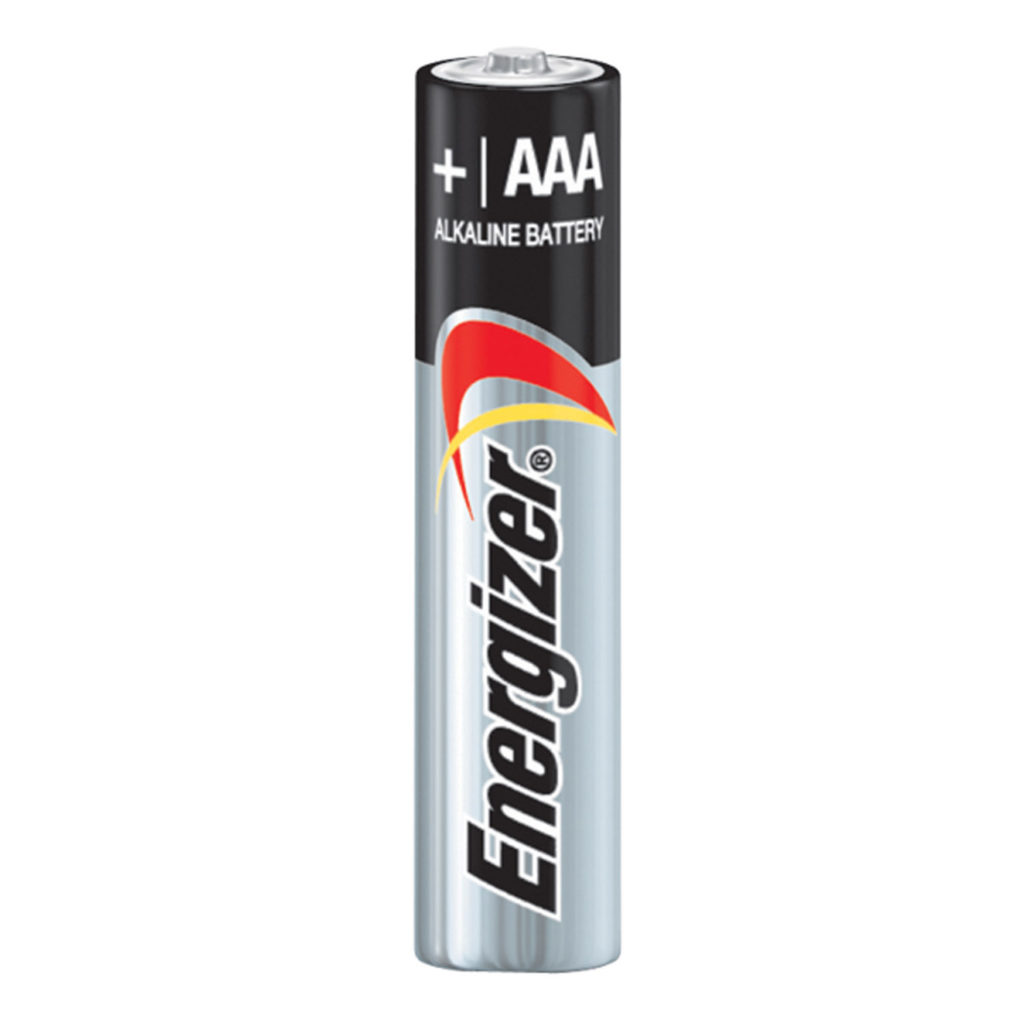 A photo of a tripple A battery