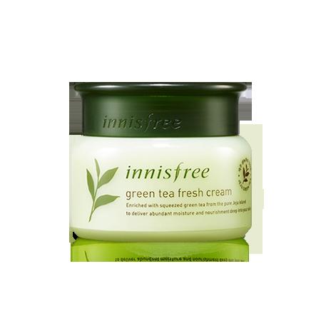 A photo of innisfree- green tea fresh cream