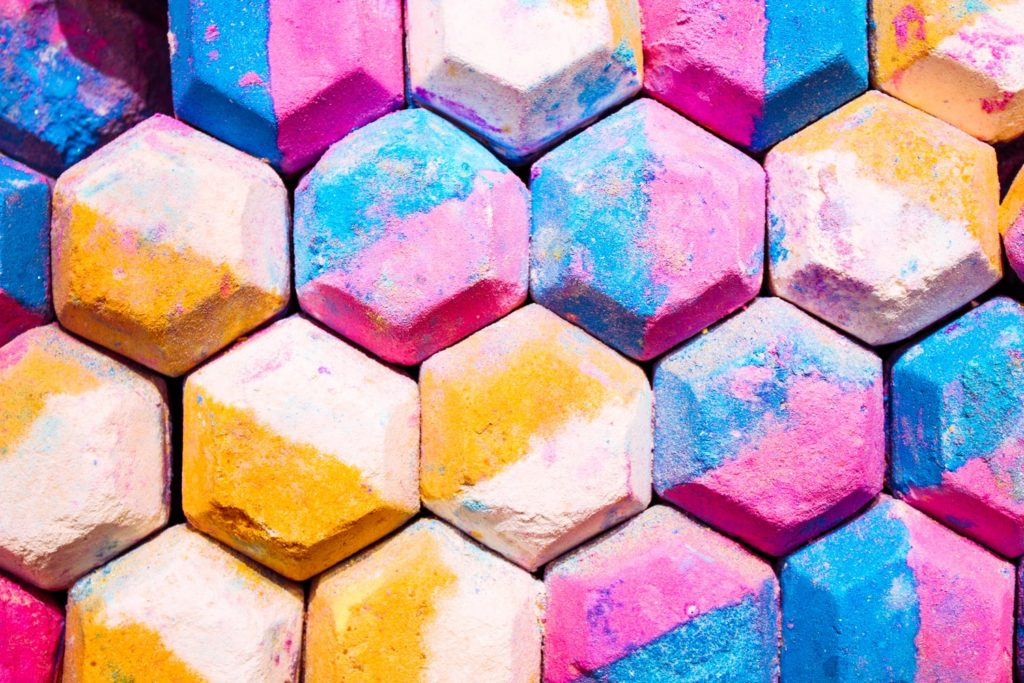 A photo of colored soap