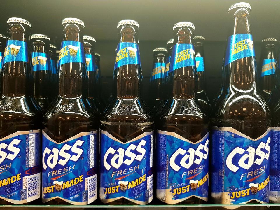 A photo of cass beer