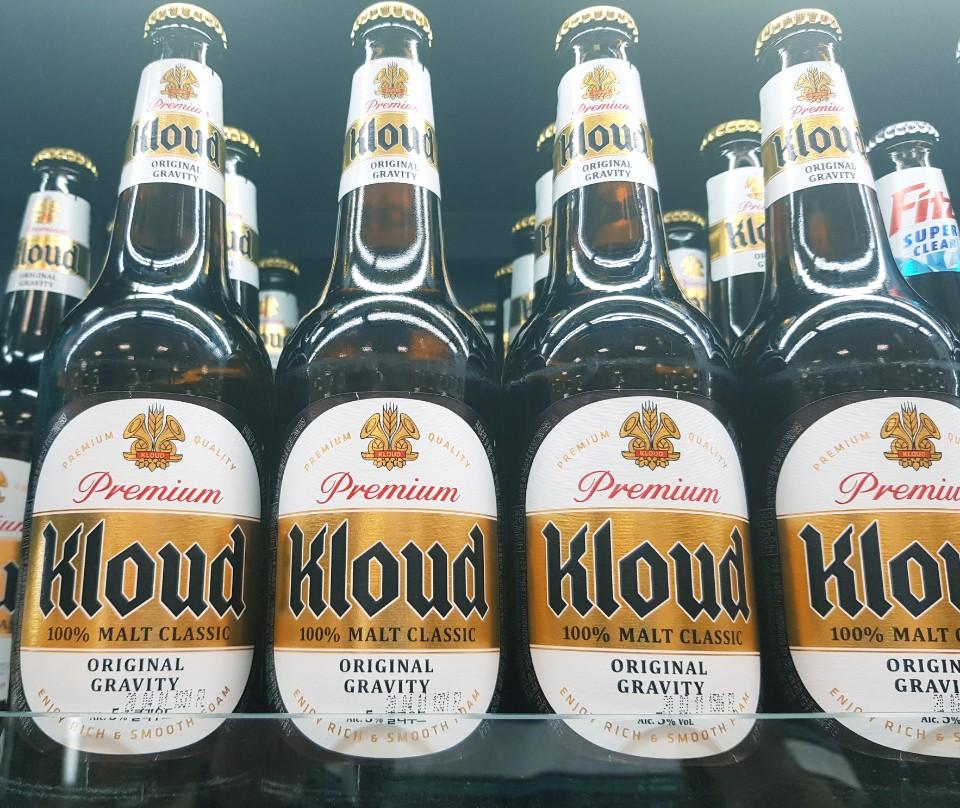 A photo of Kloud beer