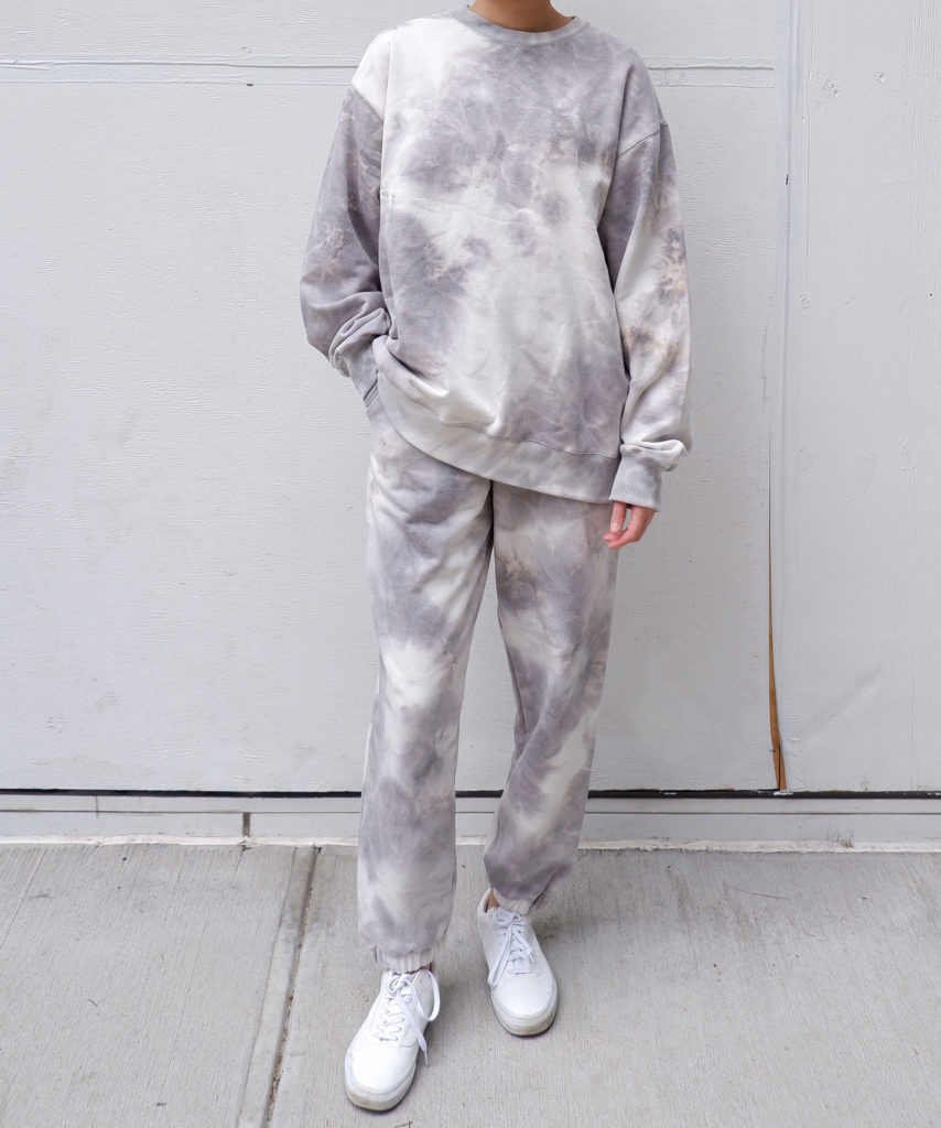Oversized tie dye sweatsuit set from The Dallant, Korean fashion online shopping site with Korean independent designers