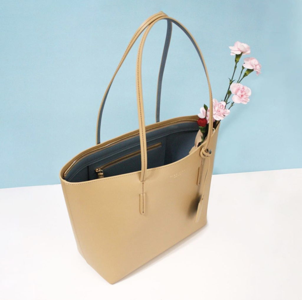 Yina Yina New York's kafka beige tote bag from The Dallant, Korean Fashion online fashion shopping site