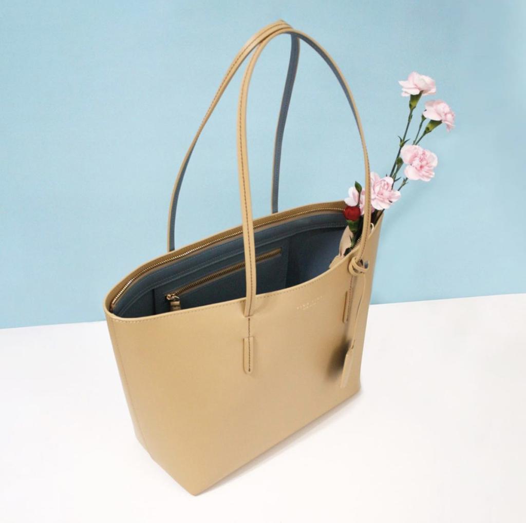 Yina Yina New York's kafka beige tote bag from The Dallant, Korean Fashion online fashion shopping site