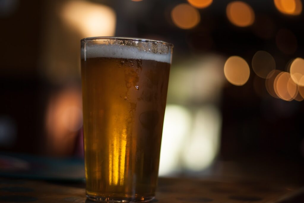 A photo of a pint of beer