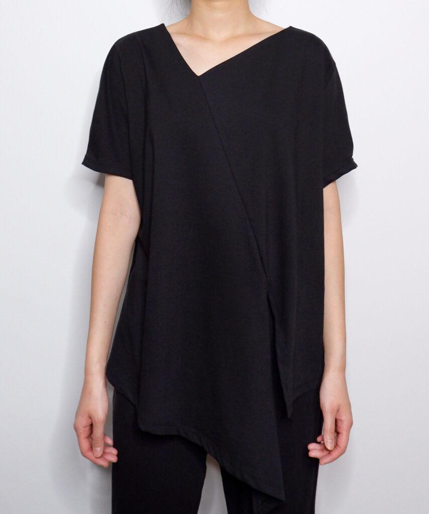 Unbalanced diagonal t-shirt   The Dallant   Korean fashion online shopping site