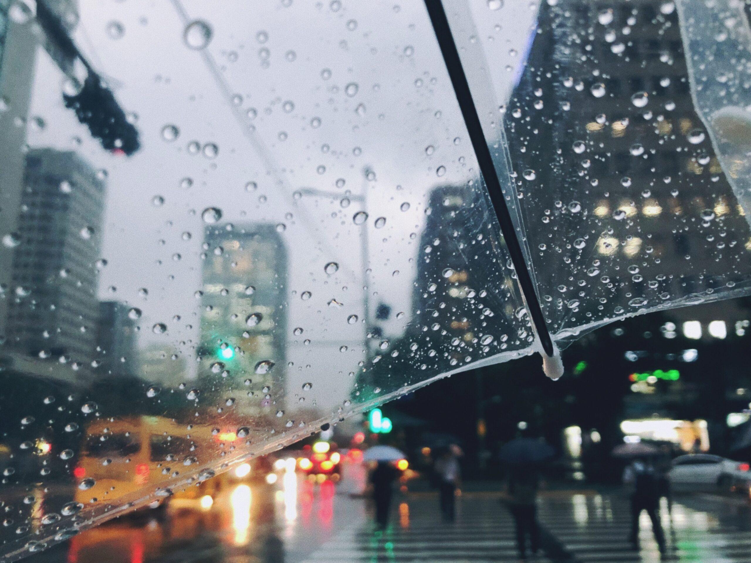Hot and humid monsoon rain season in Korea
