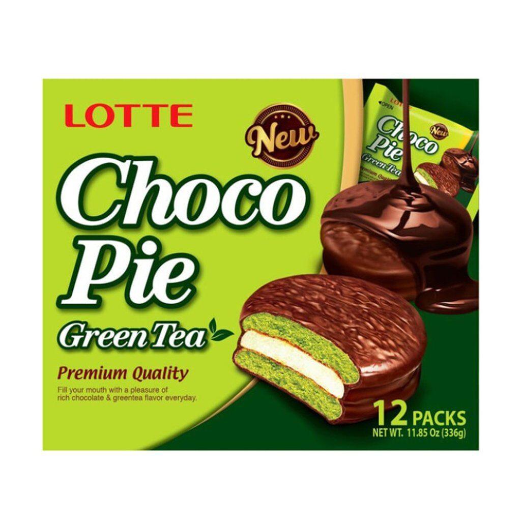 Lotte pie green tea